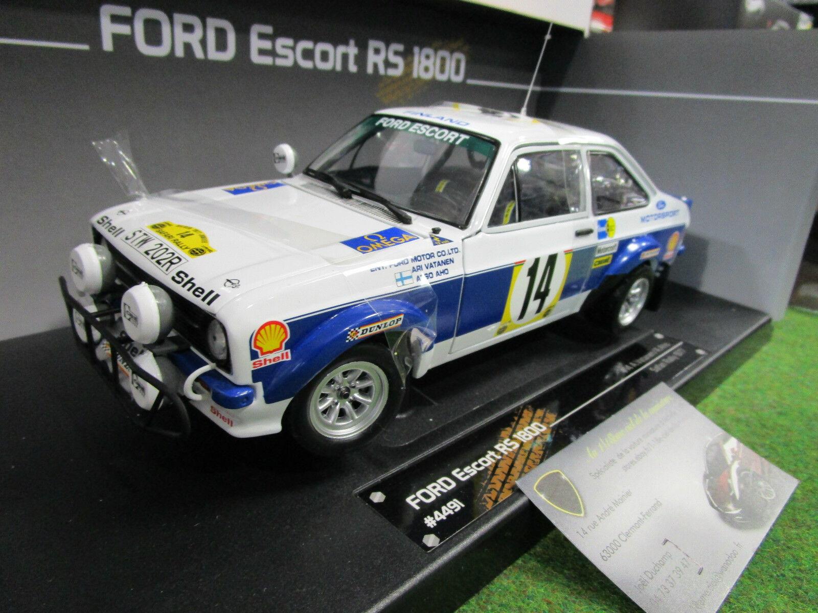 FORD ESCORT MKII RS1800 Rallye   14 SAFARI Rally 1977 1 18 SUN Estrella 4491 voiture