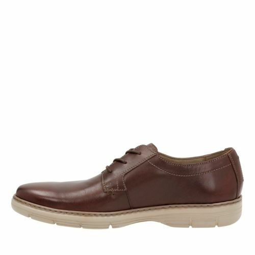 Clarks Watts Pace Men/'s Oxford Brown Leather Casual Shoes 26119637