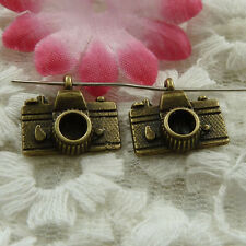 free ship 55 pieces bronze plated camera charms 15x14mm #3879