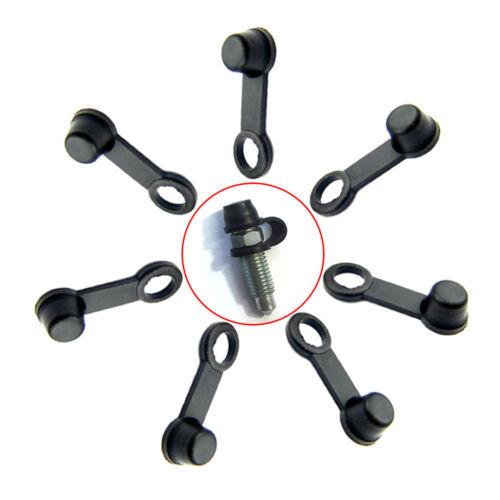8x Brake Caliper Bleed Nipple Screw Dust Cap Cover 8mm For Cars /& Motorcycles