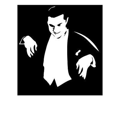 BELA LUGOSI VINYL STICKER HORROR VINTAGE HALLOWEEN B-MOVIE POSTER CINEMA TICKET