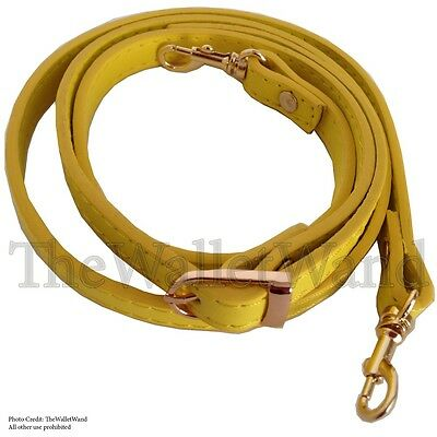 "5/8"" Wide Yellow Purse Strap Adjustable Shoulder Cross Body Replacement Handbag"