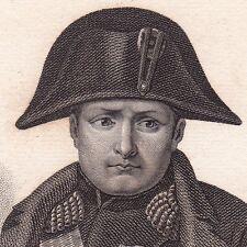 Portrait XIXe Napoléon Bonaparte Empereur des Français Premier Empire 1836