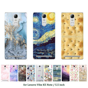 newest 7e8b3 01646 Soft TPU Silicone Case For Lenovo Vibe K5 Note Phone Back Cover ...