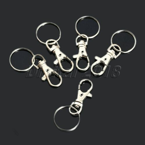 10x Lobster Clasps Snap Hooks Swivel Trigger Clips Bag Key Ring Set Accessories