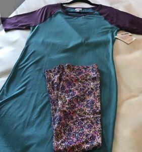 Os Purple Nwt L Rose Julia Teal Lularoe Leggings Rose Outfit zwITqwX