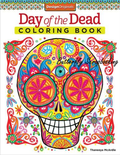 DAY OF THE DEAD Coloring Book For Markers /& Colored Pencils Design Originals New