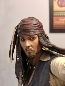 "Disney Neca Pirates Of The Caribbean Capt Jack Sparrow 18"" Talking Figure"