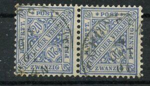 Old-Germany-Wurttemberg-Dienst-1881-Mi-204-3-Postmarked