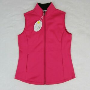 Greg-Norman-Women-039-s-Golf-Vest-Pink-with-Warm-Black-Inner-Liner-Size-Small