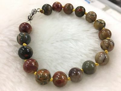 AAA Natural 10mm Multicolor Picasso Jasper Necklace 18/'/'##02