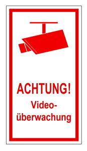 Sonstige Dekoration Nett Videoüberwachung-folie-schild-150 X 80 Mm-alarm-video-hinweisschild-warnschild In Verschiedenen AusfüHrungen Und Spezifikationen FüR Ihre Auswahl ErhäLtlich