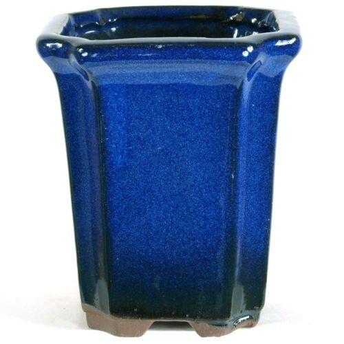 Bonsaischale 8x8x9cm Blau Quadratisch Glasiert S08815BL