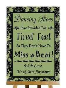 Salvia verde Negro zapatos de baile con los pies cansados Personalizado Boda Signo