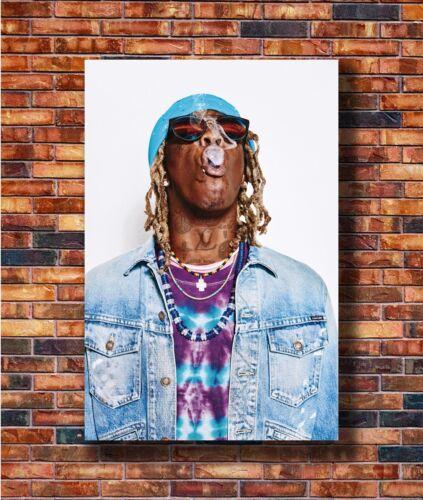 New Young Thug Rapper Smoke Music Singer Poster 14x21 24x36 Art Gift X-3409