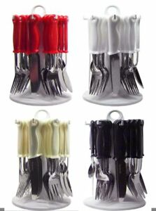 CUTLERY-24-PIECE-LOOP-DINNER-SET-RACK-FORKS-TEASPOONS-TEA-SPOONS-DRAINER-STAND