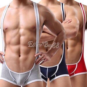 4511985ba Sexy Jockstrap Wrestling Singlet Mankini Men s Boxers Underwear Gym ...
