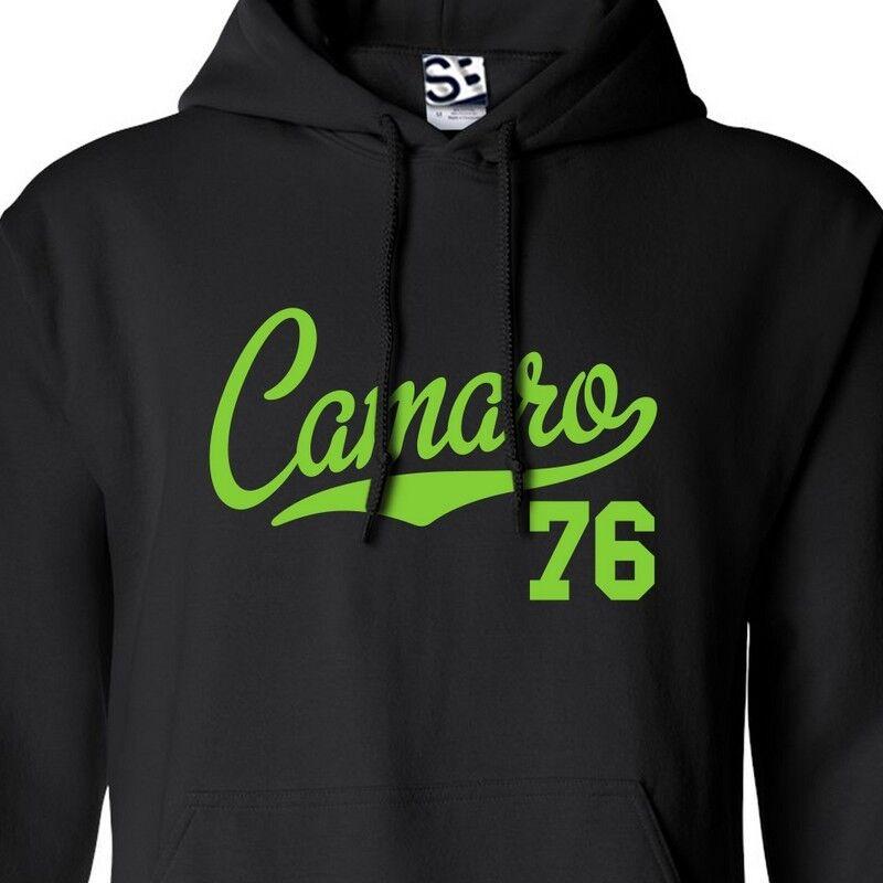Camaro 76 Script & Tail HOODIE - Hooded 1976 Muscle Car Sweatshirt All Farbes