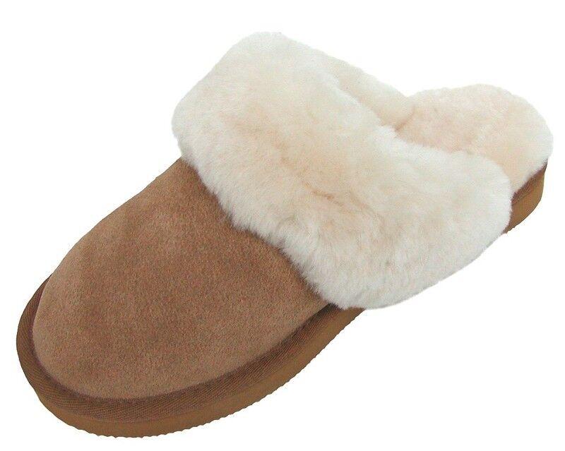 Chamier Pantoffeln warme Damen Lammfell Haus Pantoffeln Chamier Livia camel, nur Lammfell 881350
