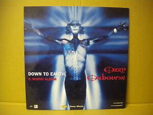 OZZY-OSBOURNE-DISPLAY-CARTONATO-PROMO-ADVERT-DOWN-TO-EARTH-2001-cm-30x30