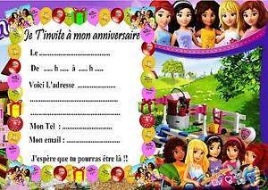 Détails Sur 5 Cartes Invitation Anniversaire Lego Friends 01 Dautres Articles En Vente