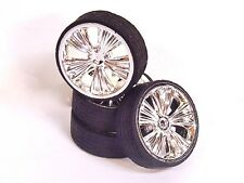 Chrome Holli Rims W Tires Pegasus 1 24 1 25 Car Model Accessory