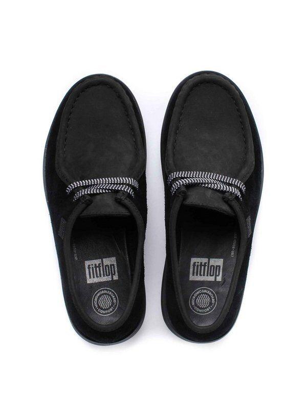 Fitflop schwarz Loaff Lace Up Moc Damen Mokassin schwarz Fitflop Leder Gr. 36, Neu 731b60