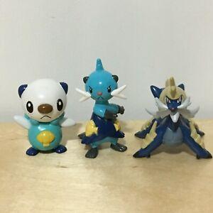 """Pokemon TOMY Gen 5-1 to 2/"""" Figure // Toy Lot Samurott 3 Dewott - Oshawott"""