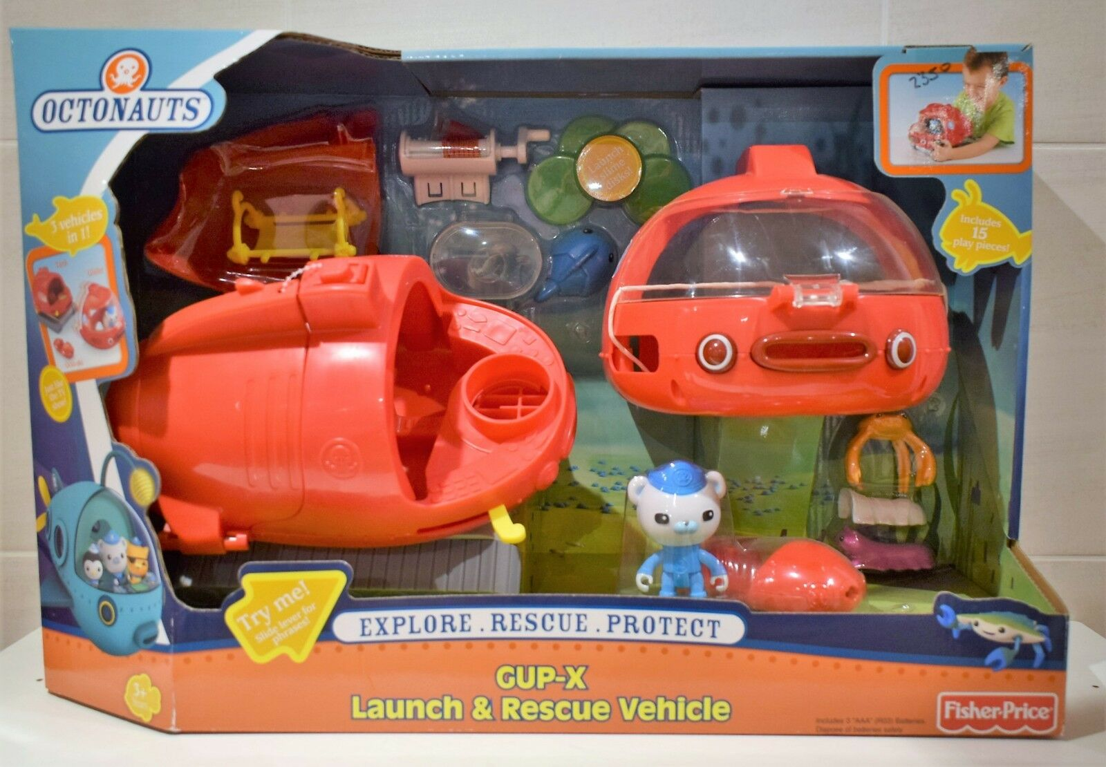 OCTONAUTS GUP-1 POLAR OCTO-LAB OCTO-LAB OCTO-LAB GUP-S POLAR EXPLORATION Or GUP-X RESCUE VEHICLE 567427