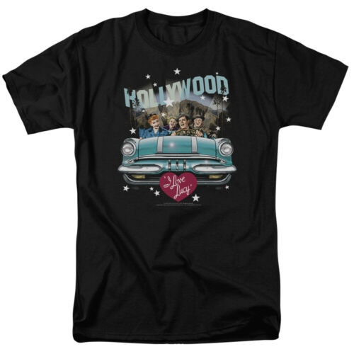 I Love Lucy Hollywood Road Trip T Shirt Licensed Funny TV Show Tee Black