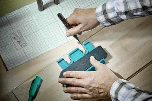 Wolfcraft Konturenlehre mit Klemmhebel Markierwerkzeuge einfache Handhabung