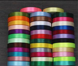 13-Colors-25yards-6-40mm-Satin-Ribbon-Wedding-Home-Box-sewing-Craft-Decoration