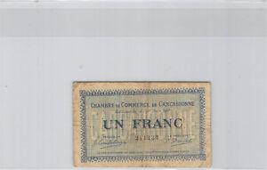 -kammer Handels- Carcassonne 1 Franc 30.6.1917 N°241232