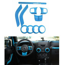Car Interior Accessories Decoration ABS Trim Light Blue For Jeep Wrangler 2-Door