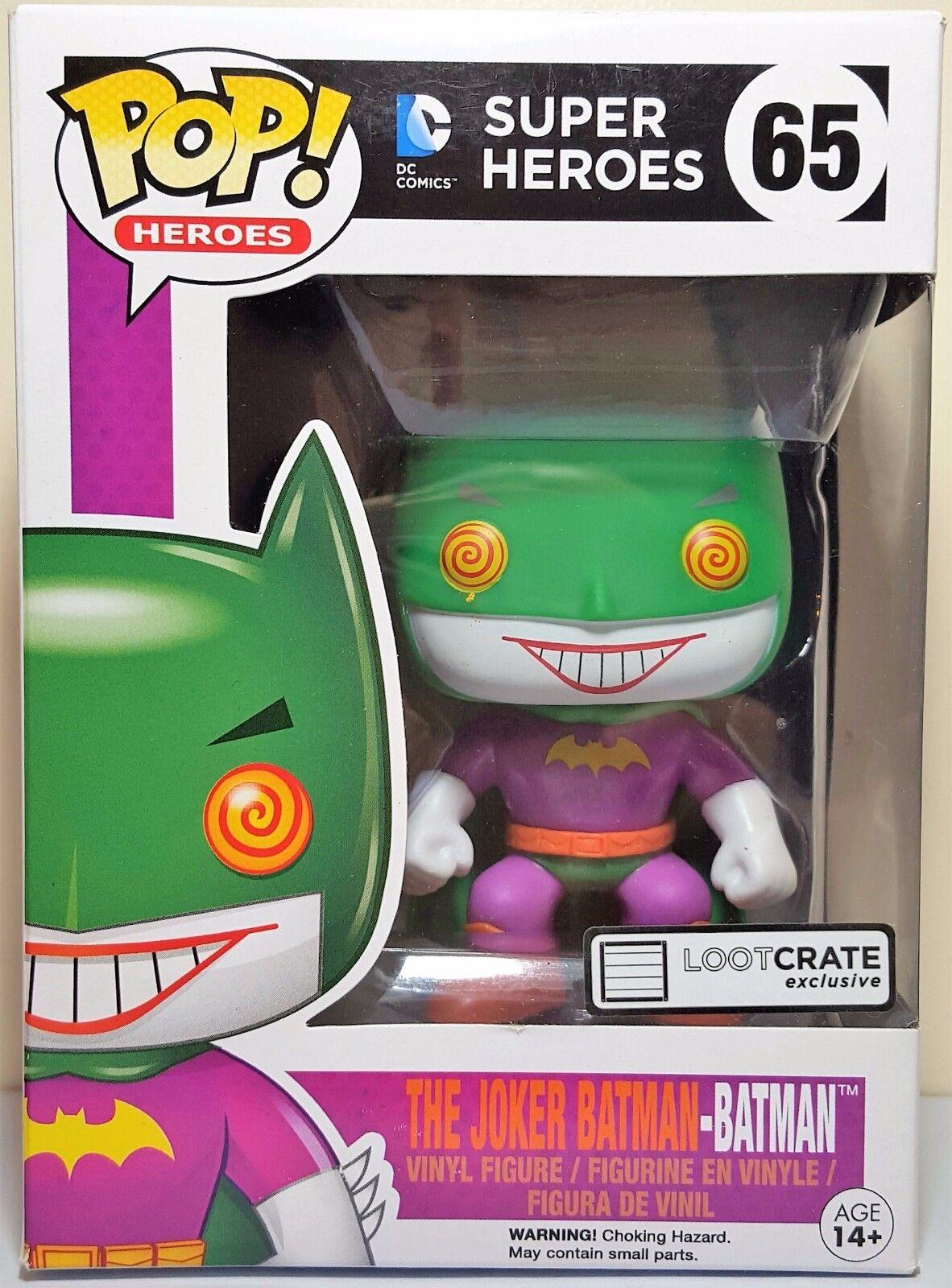 Funko Pop The Joker Batman   65 Super Heroes Loot Crate Exclusive Figure New