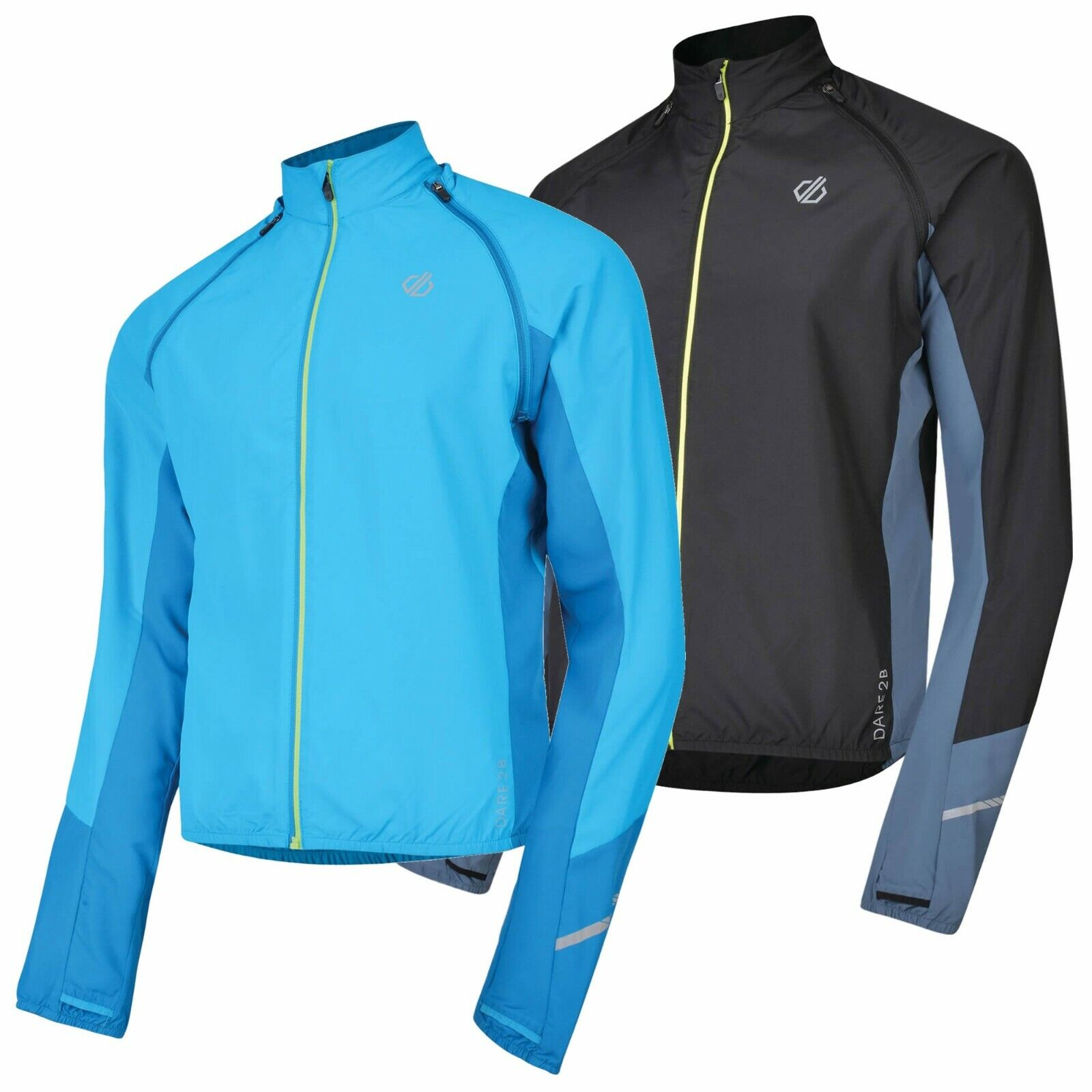 Dare2b Fired Up II Cycling Windshell Jacket Neon Green