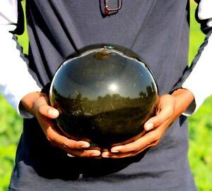 Large-22CM-Black-Tourmaline-Quartz-Crystal-Stone-Chakra-Healing-Energy-Sphere