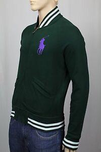 brand new 5d9d6 5ccbf Details zu Polo Ralph Lauren Grün Reißverschluss Sweatshirt Track Jacke Big  Pony Nwt