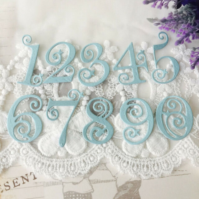 Lace Numbers Set Metal Cutting Dies Stencil Scrapbooking Embossing Card Craft