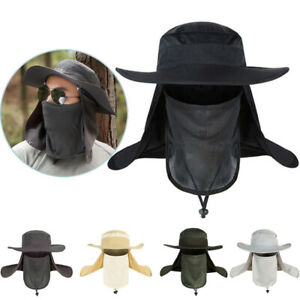 Outdoor UV Protection Sport Face Neck Flap Sun Camouflage Cap Fishing Hiking Hat