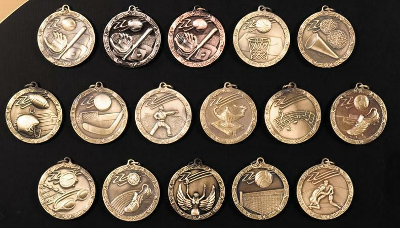Sports Activity Medal 1-3 4  FREE SHIPPING (25 pc Wholesale Lot)