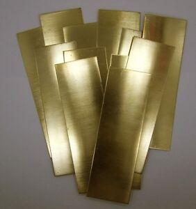 """Bracelet Cuff Blanks 6/"""" x 2/"""" 18ga Package Of 6 Raw Brass Sheet"""