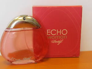 Vintage Echo By Davidoff Women 34 Oz Eau De Parfum Spray Old