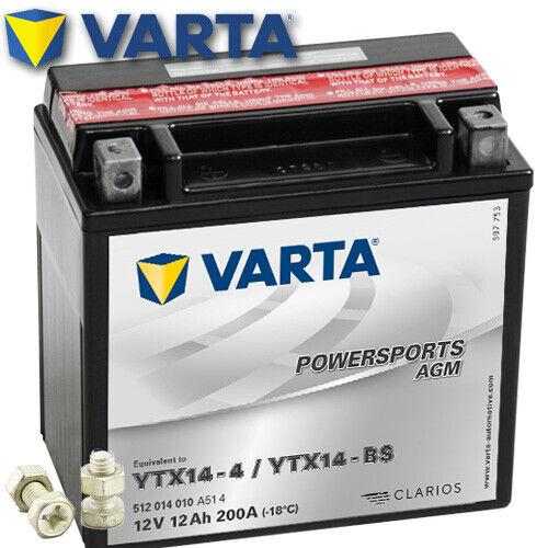 AGM 2009 VARTA YTX14-BS Batterie Buell XB12Ss Lightning Long 1200  Bj