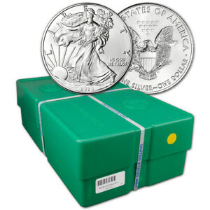 2020 American Silver Eagle 1 oz $1 - BU - Sealed 500 Coin Monster Box