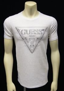 46be23c88e2 Image is loading Guess-Men-039-s-Triangle-Logo-T-shirt