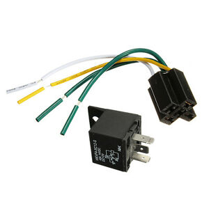 Car-Auto-DC12V-Volt-30-40A-Automotive-4-Pin-4-Wire-Relay-amp-Socket-30amp-40amp-dx