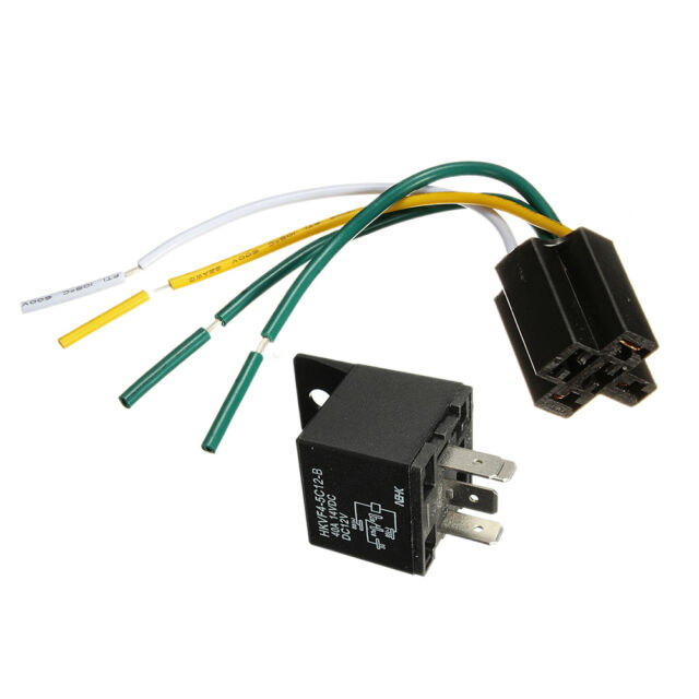 Car Auto DC12V Volt 30/40A Automotive 4 Pin 4 Wire Relay&Socket 30amp  Prong Volt Relay Wiring on