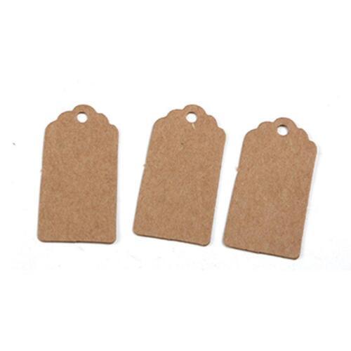 100x Anhänger Kraftpapier Gift Tag Etiketten Geschenkanhänger Geschenkkar vvbb