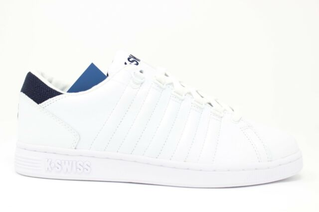 21b60a5ce1bf3 K-Swiss Lozan III TT Mens 05398-109 White Navy Leather Athletic Shoes Size 9